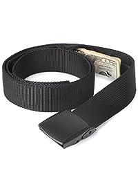 Travel Security Money Belt with Hidden Money Pocket Nylon Belt