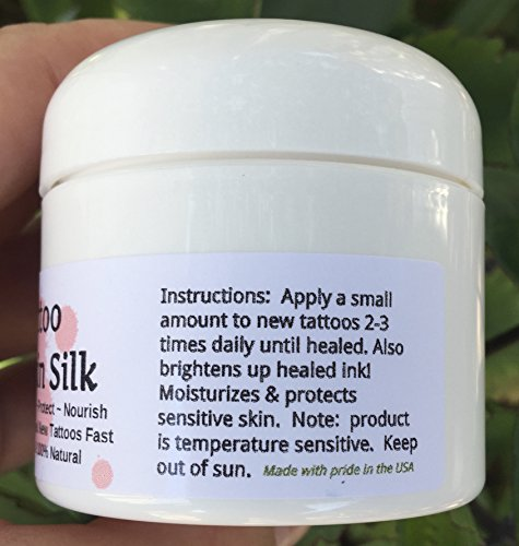 TATTOO SKIN SILK! Heal new ink fast! REVIVE OLD tats and make them look darker! 100% NATURAL Rich Plant Butters. Balm Goo Ointment, Cream Lotion PROTECT! Vegan. Shea Butter, Healing Botanicals!