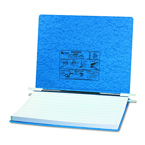 ACCO Pressboard Hanging Data Binder, Unburst Sheets, 14.875 x 11 Inches, Light Blue (54072)