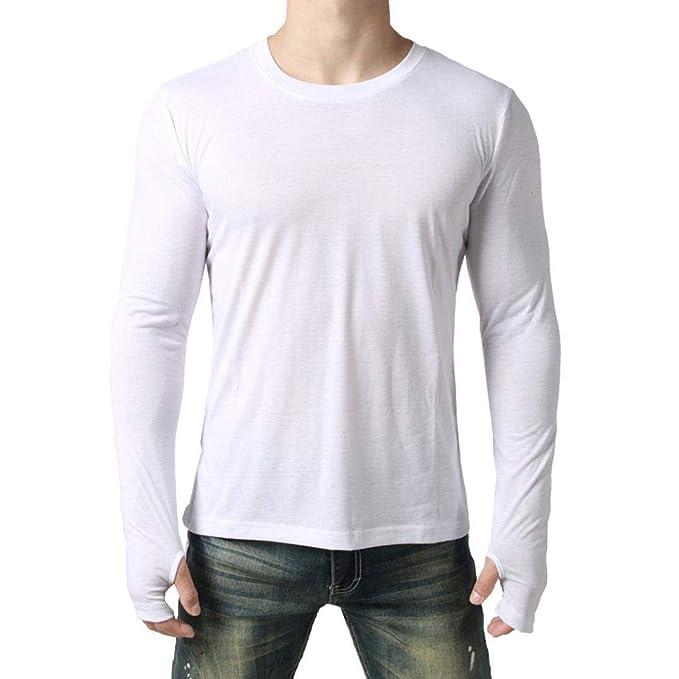 Camisetas de Hombre, BaZhaHei, Blusa de Hombre de Moda Camisa de Manga Larga Apta
