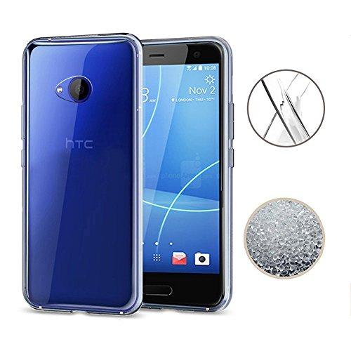 HTC U11 Life Case, TopACE Ultra Thin Transparent Soft Gel TPU Silicone Case Cover for HTC U11 Life 5.2 Inch (Not for HTC U11) (Clear)
