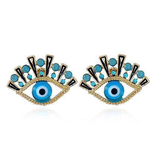 A d'oreilles Bijoux créative d'oeil féminine Boucles forme d'oreilles Personnes exagéré Diamant Boucles Personnalité en tendance wqz6O4aO