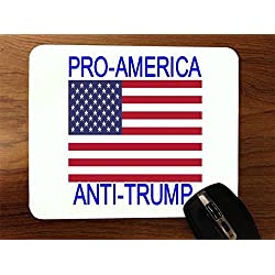 Pro America Anti Trump Quote American Flag Desktop Office Silicone Mouse Pad by Trendy Accessories