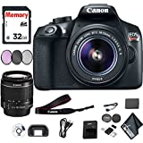 Canon EOS Rebel T6 DSLR Camera 18-55mm Lens 32GB Memory Card, Filter Kit, Battery Starter Package