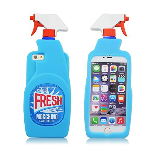 Fashion Silicone 3D Fruit Cover for iPhone 6 6s,3D Cool Shark,3D Sexy Lips Soft Gel Rubber Case for Apple iPhone 6 6S 4.7inches (Moschino 3D Fresh Couture Spray Bottle)