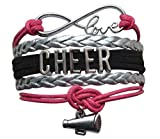Girls Cheerleading Bracelet, Cheer Gifts- Cheer Jewelry- Cheer Bracelet- Adjustable Cheer Charm Bracelet- Gift For Cheerleaders, Cheer Teams & Cheerleading Coaches