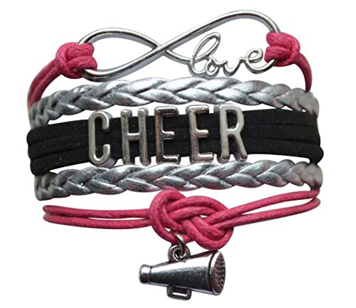 Price comparison product image Infinity Collection Girls Cheerleading Bracelet, Cheer Gifts- Cheer Jewelry- Cheer Bracelet- Adjustable Cheer Charm Bracelet- Gift for Cheerleaders, Cheer Teams & Cheerleading Coaches