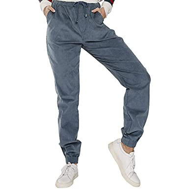 Amazon.com: Comfy Stretch Pantalon Women Casual Sport Pants ...
