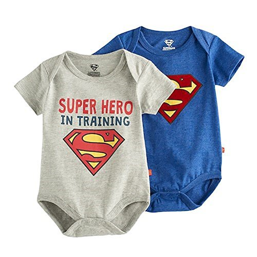 Superman Infant Boys' 2 Piece Short-Sleeve Bodysuit (0-3 Months)