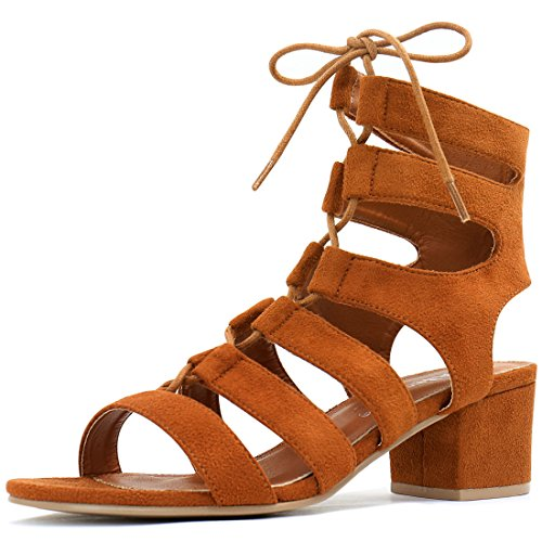 Allegra K Bout Ouvert Talon Large Femme Beige Marron Sandales Us 5 Brown Us 5