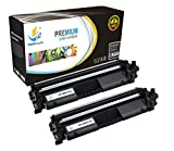 Catch Supplies CF217A - 17A Premium Black Replacement Toner Cartridge Two Pack Compatible with HP LaserJet Pro M102w, M102a, MFP M130nw, M130fw, M130fn, M103a Laser Printers |1,600 Yield|