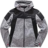 Alpinestars Men's Modern Fit Stretch Removable Hood Bunjie Adjusters Tech Bonded Micro Fleece, Stratified Charcoal Heather, L