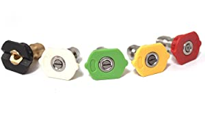 ✦ New - Premium - Nozzle Kit - Quick Connect - Universal - Pressure - Power Washer - Gas - Electric Pressure Washer - Replacement for Ryobi - B&S - Craftsman - Karcher - Generac