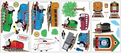 Thomas The Tank Engine Mural - THOMAS THE TANK ENGINE WALL DECALS Train Stickers Boys Bedroom Decorations:New free shipping by WW shop