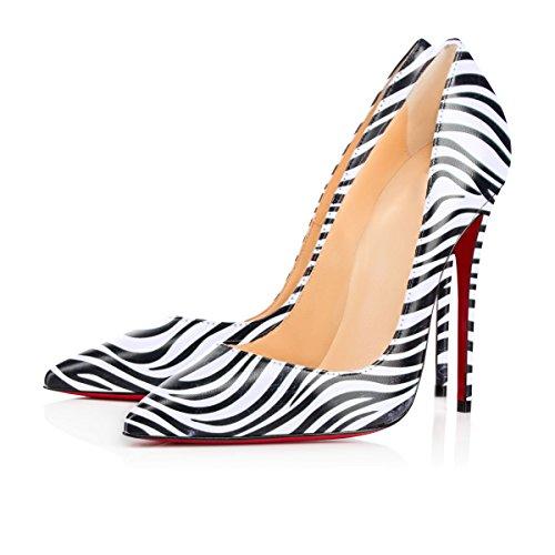 Femme Pu Talons Stilettos Aiguille Taille Chaussures Escarpins Grande Z 120mm zebra Talon Femmes Haut Ubeauty 1WqTzwHw