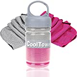 FITVC Neck Cooling Towel Evaporative Fast Instant Cool Towels Cooling Neck Wrap Ice Towel Scarf Bandana Neck Coolers for Sports Yoga Athletes Gym Fitness