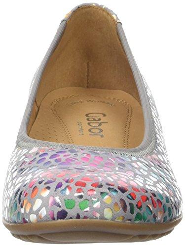 Gabor Ladies Comfort Chiuso Ballerine Grigio (pietra 24)