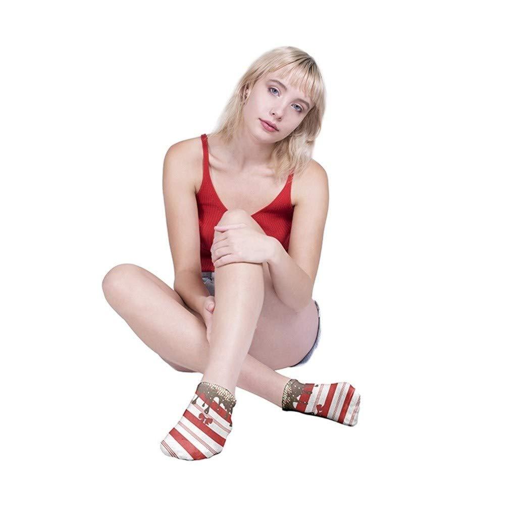 Christmas Socks Colorful 3D Printed Novelty Funny Low Cut Ankle Socks for Women Girls Winter Warm Socks