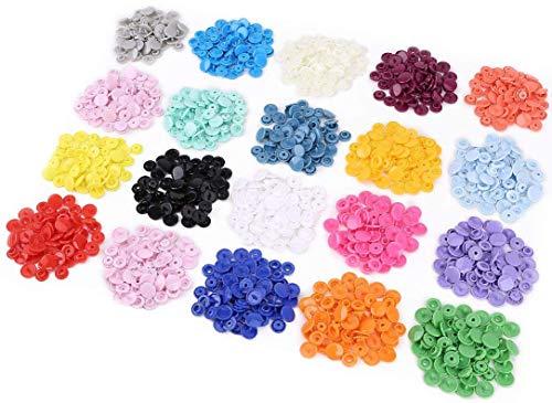300 Sets 20-Color KAM Snaps Size 20 (1/2