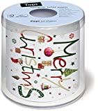 Toilettenpapier Rolle bedruckt Around the world - Merry Christmas