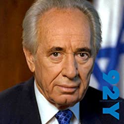 Shimon Peres and Michael Bar-Zohar at the 92nd Street Y