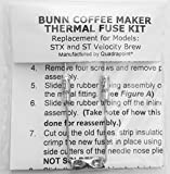 Bunn Coffee Maker Repair Repair Your Bunn Coffee Maker, Water Not Heating? Thermal Fuse Harness (STX and ST Velocity Brew)