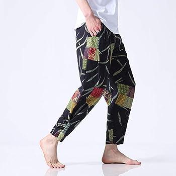 Geilisungren Pantalones para Hombre, Pantalones Piernas Anchas ...