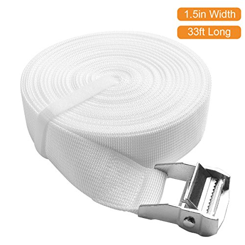 ifrmmy Twins to King Bed Strap Connector - Bed Doubling System -Twin Bed Joiner with Metal Buckle - Twin Bed Joiner(1.5 inch width / 33ft long)