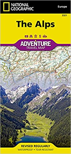 Alps: Travel Maps International Adventure Map National Geographic ...