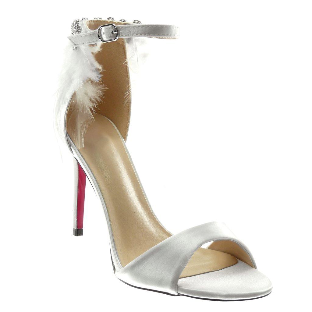 Angkorly Chaussure Mode Blanc Escarpin Sandale Stiletto Lanière Cheville Sandale Femme B07231DPX5 Plume Strass Diamant Lanière Talon Haut Aiguille 10 cm Blanc 2b4a929 - epictionpvp.space