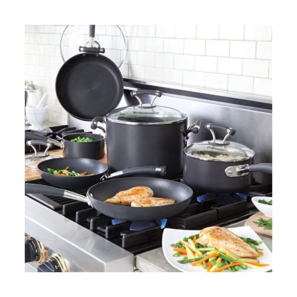 Circulon Acclaim Hard Anodized Nonstick Cookware Pots and Pans Set, 13 Piece, Black 6