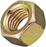 Steel Hex Nut, Zinc Yellow-Chromate Plated Finish, Grade 8, 9/16