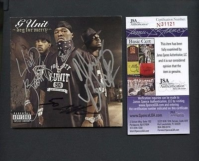 Cent Booklet (50 Cent Lloyd Banks Tony Yayo Triple Signed CD Booklet JSA COA AUTO)