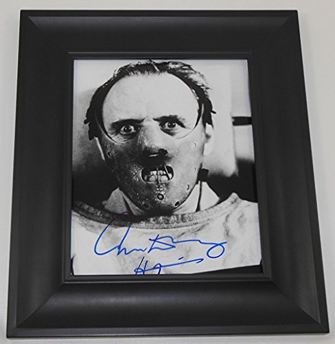 Silence of the Lambs Hannibal Lecter Anthony Hopkins Signed Autographed B/W 8x10 Glossy Photo Gallery Framed Loa