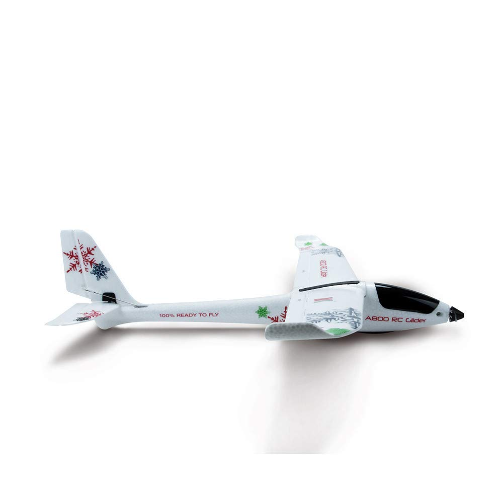 COLOR-LILIJ WL XK-A800 EPO Fixed Wing 5CH Glider Wingspan 780mm Remote Control Airplane RTF,2.4GHz Control,White by COLOR-LILIJ (Image #4)