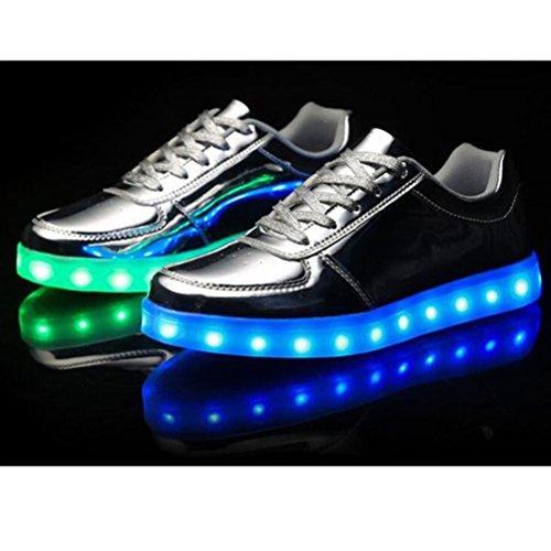 [Present:kleines Handtuch]JUNGLEST® 7 Farben LED Kinder, Jungen, Mädchen führte leuchten Trainer Sneakers Turnschuhe Sportschuh c36