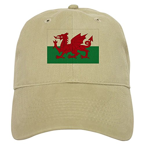(CafePress - Welsh Red Dragon Cap - Baseball Cap with Adjustable Closure, Unique Printed Baseball Hat Khaki)