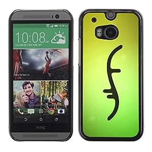 FECELL CITY // Duro Aluminio Pegatina PC Caso decorativo Funda Carcasa de Protección para HTC One M8 // Double Helix Dna Strand Biology Green