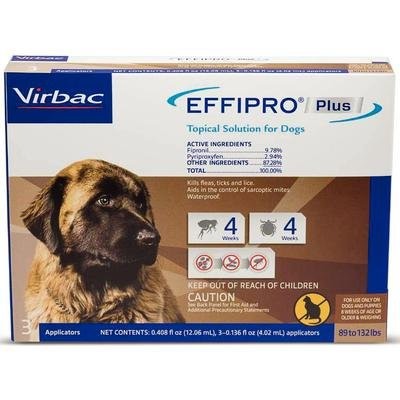Effipro Plus Topical Solution 3 Month Supply Plus Dog 89-132 lbs