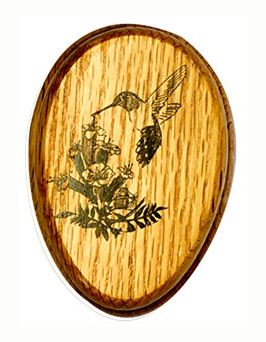 AllAmishFurniture Amish Towel Hummingbird Magic Marble Holder Oak Hardwood