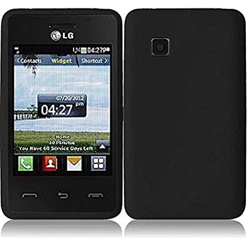 For Tracfone LG 840G LG840G Silicone Jelly Skin Cover Case Black (Track Phone Covers)