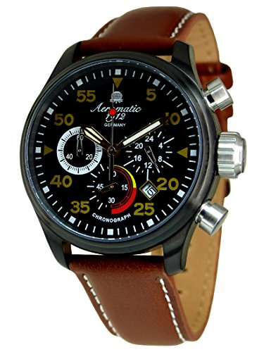(German military flier chronograph with 3 eyes A1428 )
