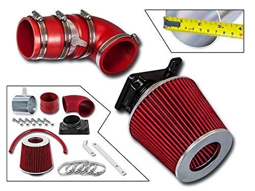 Rtunes Racing Short Ram Air Intake Kit + Filter Combo RED For 02-07 Mitsubishi Lancer 2.0L