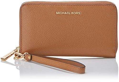 MICHAEL Michael Kors KORS STUDIO Large Flat Phone Case Wristlet Acorn (Flats Michael Kors)