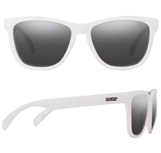 6b131a4e1c Amazon.com  White Polarized Sunglasses For Men And Women With Black Lenses