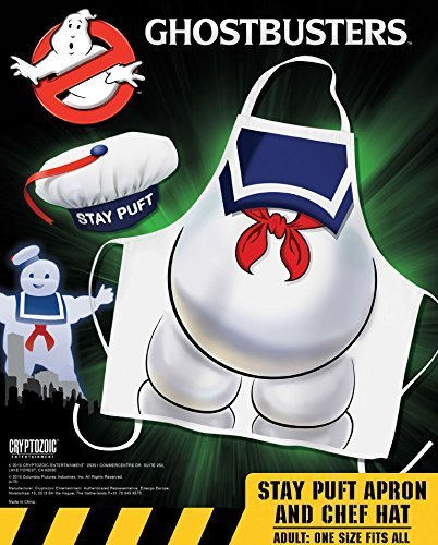 Cryptozoic Entertainment Ghostbusters Stay Puft Apron & Hat Costume by Cryptozoic (Stay Puft Hat)