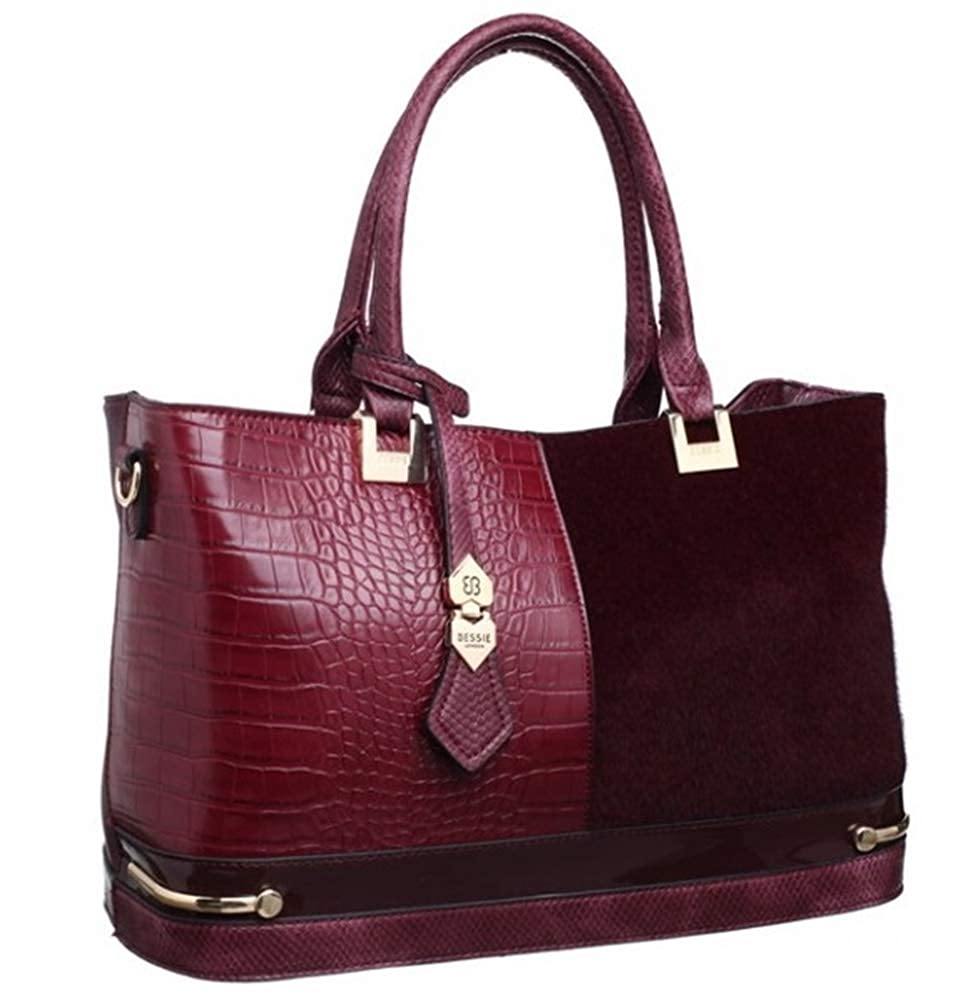 19bddd4a34 Bessie London Tote Style Handbag in Black - BW3384  Amazon.co.uk  Shoes    Bags