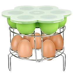 Verones Instant Pot Accessories, Silicone Egg Bites Molds & Stackable Egg Steamer Rack Set For Instant Pot Accessories - Fits Instant Pot 5 6 8 Qt Pressure Cooker