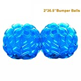 PACKGOUT Bumper Balls, Inflatable Body Bubble Ball Sumo Bumper Bopper Toys for Kids & Adults 36.5'', 2 Balls