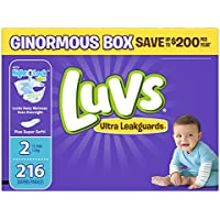 Luvs Ultra Leakguards Size 2 Diapers (216 Count)